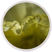 Daffodil Ruffles Round Beach Towel
