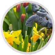 Daffodils 1 Round Beach Towel