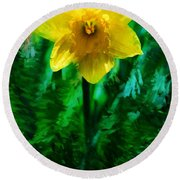 Daffy Dill Round Beach Towel