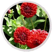 Dahlia 1 Round Beach Towel