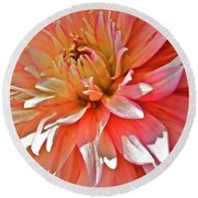 Dahlia Blush Round Beach Towel