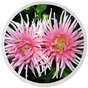 Dahlia Duo Round Beach Towel