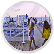 Daily Ticket Aka Giornaliero Round Beach Towel