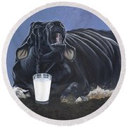 Dairy Is A Mother's Tears Round Beach Towel