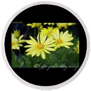 Daisy A Day Round Beach Towel