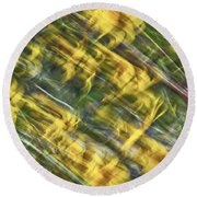 Daisy Abstract Round Beach Towel