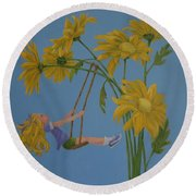 Daisy Days Round Beach Towel