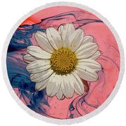 Daisy Swirls 1 Round Beach Towel