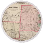 Dakota And Wyoming Round Beach Towel