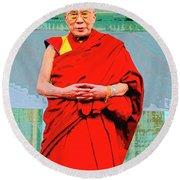 Dalai Lama Round Beach Towel