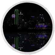 Dallas 2018 And 4 Minutes Round Beach Towel