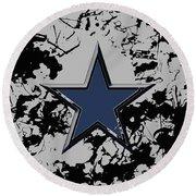 Dallas Cowboys 1b Round Beach Towel
