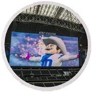 Dallas Cowboys Rowdy Round Beach Towel