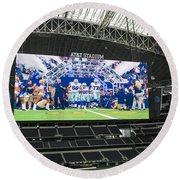 Dallas Cowboys Take The Field Round Beach Towel
