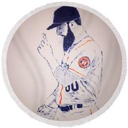 Dallas Keuchel Give Thanks Round Beach Towel