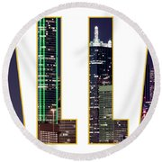 Dallas Letters Transparency 013018 Round Beach Towel