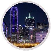 Dallas Purple Night 71417 Round Beach Towel