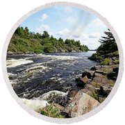Dalles Rapids French River Iv Round Beach Towel