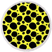 Dalmatian  Black Pattern 05-p0173 Round Beach Towel