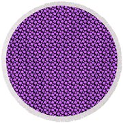 Dalmatian Pattern With A Black Background 30-p0173 Round Beach Towel