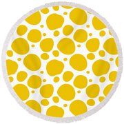 Dalmatian Pattern With A White Background 05-p0173 Round Beach Towel
