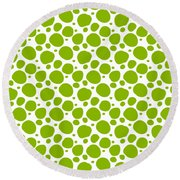 Dalmatian Pattern With A White Background 09-p0173 Round Beach Towel
