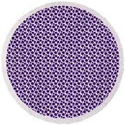 Dalmatian Pattern With A White Background 30-p0173 Round Beach Towel