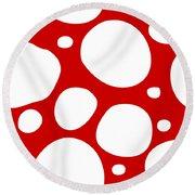Dalmatian  White Pattern 02-p0173 Round Beach Towel
