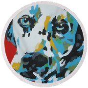 Dalmation Round Beach Towel