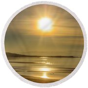 Salton Sunset Round Beach Towel