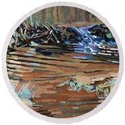 Dam Beavers Round Beach Towel by Phil Chadwick
