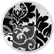 Damask Defined II Round Beach Towel
