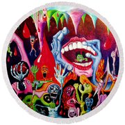 Damnation Of The Evil Round Beach Towel