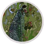 Damsel Fly Round Beach Towel