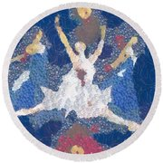 Dance Abstract In The Mix Round Beach Towel