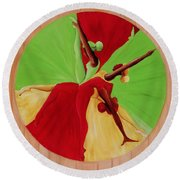 Dance Circle Round Beach Towel by Ikahl Beckford