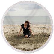 Dance Digital Round Beach Towel