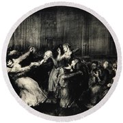 Dance In A Madhouse Round Beach Towel