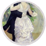 Dance In The City Round Beach Towel by Pierre Auguste Renoir