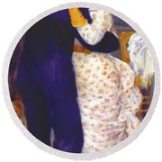 Dance In The Country 1883 1 Round Beach Towel