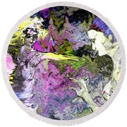Dance In Violet Round Beach Towel