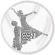 Dance Lift Round Beach Towel