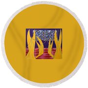 Dance Of Angels Round Beach Towel