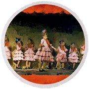 Dance Of La Ninos Round Beach Towel