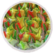 Dance Of The Appetizers Round Beach Towel