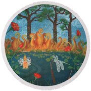 Dance Of The Dragonfly. / The Best Is Yet To Come. Round Beach Towel