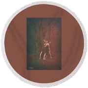 Dance Of The Mother And The Maiden Round Beach Towel