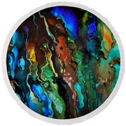 Dance Of The Seahorse  Round Beach Towel