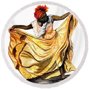 Dance The Belair Round Beach Towel