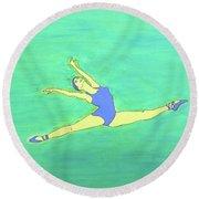 Soaring Dancer By Ken Tesoriere Round Beach Towel